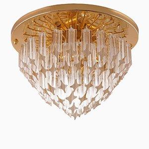 Luz de montaje Mid-Century de cristal de Murano de Venini