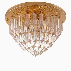 Mid-Century Flush Mount with Murano Glass from Venini