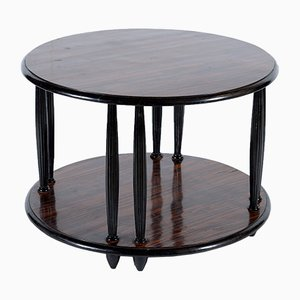Tavolino da caffè Art Déco laccato nero, anni '20
