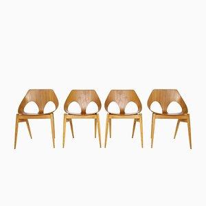 Moderne Schichtholz C2 Jason Stühle von Carl Jacobs für Kandya, 1955, 4er Set