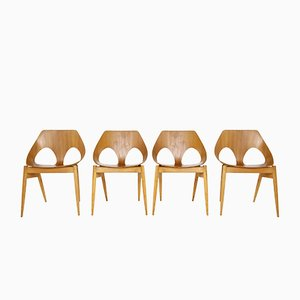 Modernist Plywood C2 Jason Chairs by Carl Jacobs for Kandya, 1955, Set of 4