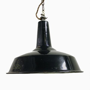 Industrial Enamel Pendant Light from Reluma, 1960s