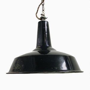 Lámpara colgante industrial esmaltada de Reluma, años 60