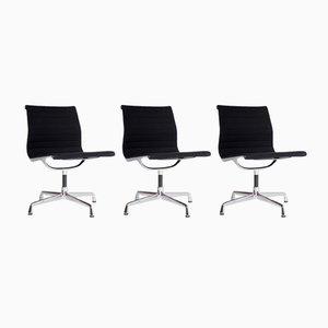 EA 105 Aluminium Stühle von Charles & Ray Eames für Vitra, 1960er, 3er Set