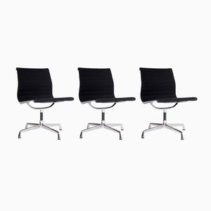 EA 105 Aluminum Chairs by Charles & Ray Eames for Vitra, 1960s, Set of 3
