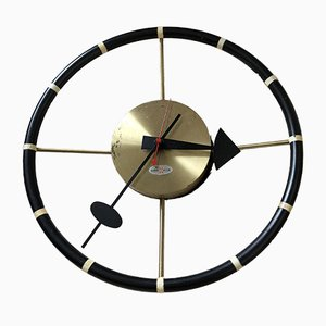 Orologio a forma di volante di George Nelson per Howard Miller, 1955