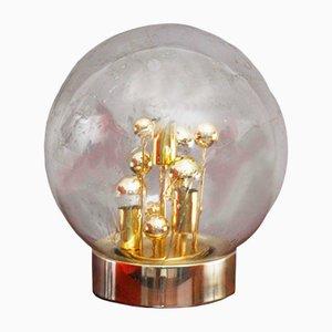 Lampada da tavolo in vetro soffiato a mano con bolle di Doria Leuchten, anni '70