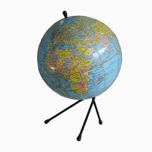 Vintage Tripod Earth Globe from Michard Paris