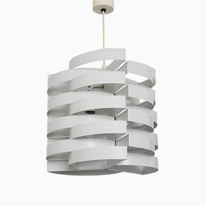 French White Lacquered Ceiling Lamp by Max Sauze, 1970s