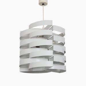 Lámpara de techo francesa lacada en blanco de Max Sauze, años 70