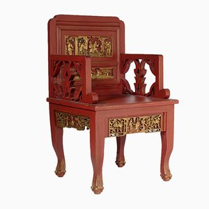 Französischer Vintage Chinoiserie Stuhl, 1920er