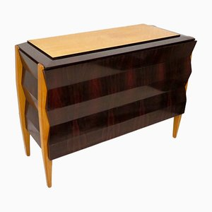 French Mahogany Veneered Dresser, 1940s