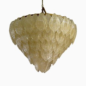 Gold Color Murano Glass Chandelier, 1950s