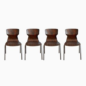 Vintage Pagwood Chairs by Adam Stegner for Pagholz Flötotto, Set of 4