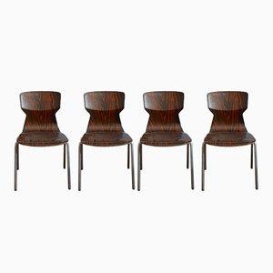 Vintage Stühle aus Pagholz von Adam Stegner für Pagholz Flötotto, 4er Set