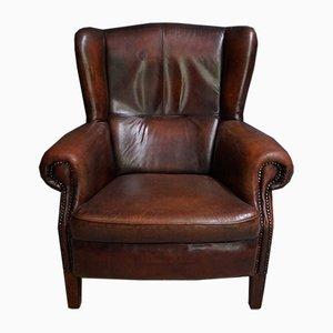 Dutch Vintage Cognac-Colored Leather Club Chair