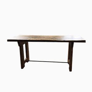 Tavolo da pranzo industriale in legno, anni '50
