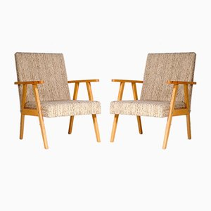 Mid-Century French Armchairs, 1960s, Set of 2