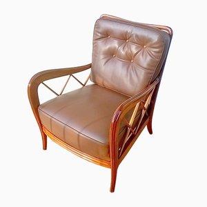 Kunstleder Sessel von Paolo Buffa, 1940er