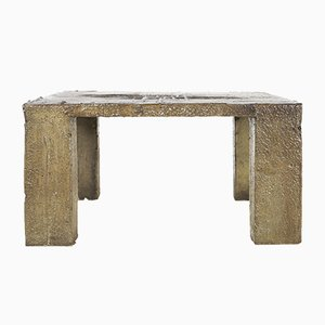 Belgian Concrete Coffee Table by Pia Manu, 1970s
