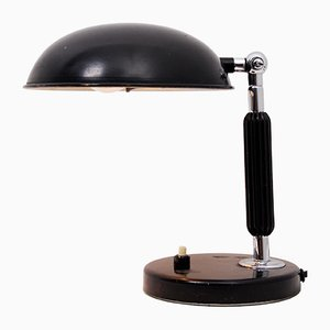 Vintage Chrome & Black Lacquer Desk Lamp