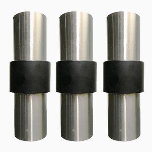 Luces colgantes Mid-Century de aluminio de Raak, años 60. Juego de 3