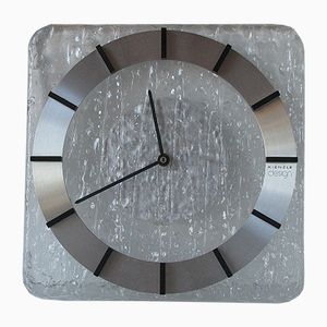 Acrylic Glass & Aluminum Wall Clock from Kienzle, 1970s