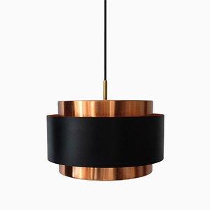 Lámpara colgante Saturn de cobre de Jo Hammerborg para Fog & Mørup, años 60