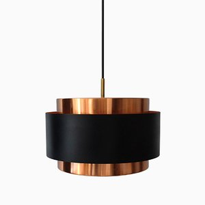 Saturn Pendant Lamp in Copper by Jo Hammerborg for Fog & Mørup, 1960s