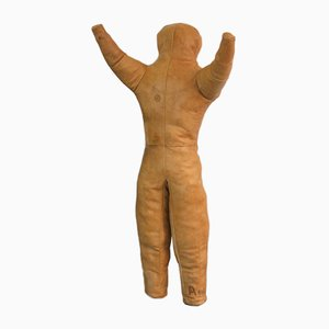 Tan Leather Wrestling Dummy, 1940s