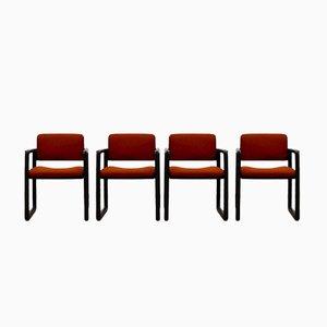 Ypsilon Esszimmerstühle von Just Meyer für Kembo, 1970er, 4er Set