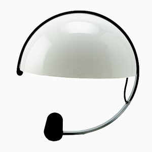 Italian White Globe-Shaped Table Lamp from Artimeta, 1970s