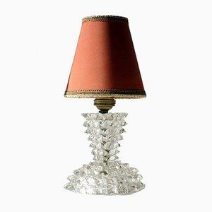 Italienische Art Deco Rostrato Tischlampen aus Murano Glas von Ercole Barovier, 2er Set