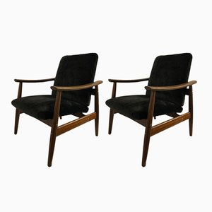 Portuguese Tropical Wood Armchairs from Altamira, 1960s, Set of 2