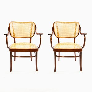 A283 Bugholz Armlehnstühle von Gustav Schneck für Thonet, 1970er, 2er Set