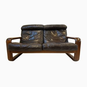 Hombre Leather Sofa by Burkhard Vogtherr for Rosenthal, 1970s