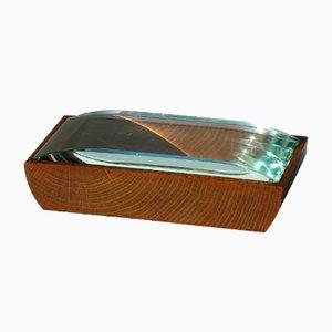 Caja Mid-Century de madera y cristal de Pietro Chiesa para Fontana Arte
