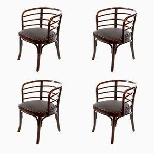 Armlehnenstühle aus Bugholz für das Esszimmer von Josef Frank für Thonet, 1930er, 4er Set