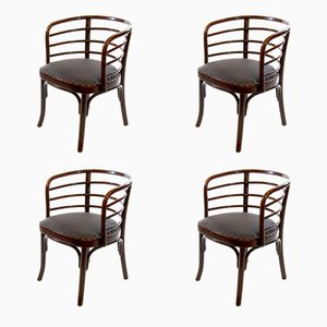 Bentwood Dinner Armchairs by Josef Frank for Thonet, 1930s, Set of 4