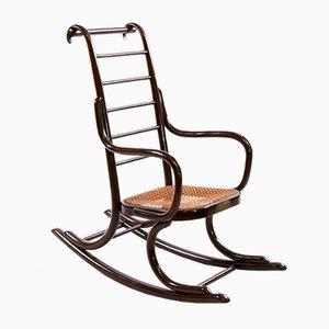Sedia a dondolo da bambino Art Nouveau in legno curvato di Professor Epstein & Thonet, anni '20