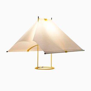 Gelbe Le Falene Tischlampe von Piero de Martini für Arteluce, 1970er