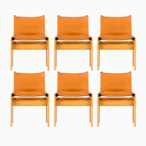 Monk Chairs by Afra & Tobia Scarpa for Molteni, 1970s, Set of 6