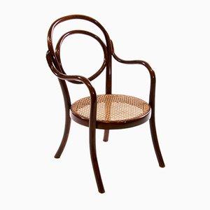 Jugendstil Kinder Armlehnstuhl Nr. 1 aus Bugholz von Thonet