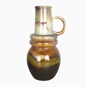 Große Wiener Vintage Fat Lava Vase von Scheurich, 1970er