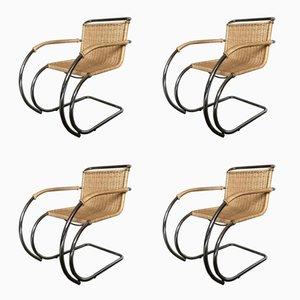 Vintage MR20 Chairs by Mies van der Rohe, Set of 4