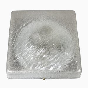 Deutsch Eis Glas Deckenlampe, 1960er