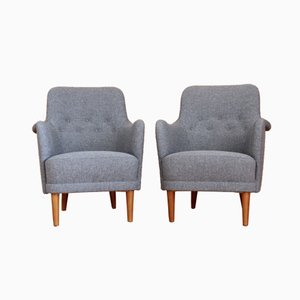 Swedish Samsas Armchairs by Carl Malmsten for O. H. Sjogren, 1960s, Set of 2