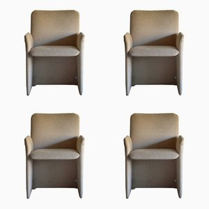 Armchairs by Giovanni Offredi for Saporiti Italia, 1970s, Set of 4
