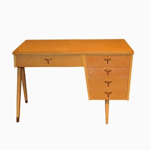 Vintage Desk with Compass Legs, 1950s