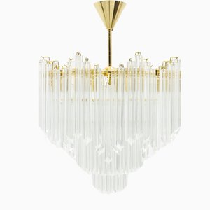 Large Italian Murano Glass Chandelier, 1970s